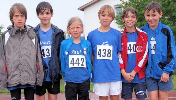 Jede Menge Spitzenplätze: Robin, Marco, Paul, Pascal und Niklas (hier bei der kreismeisterschaft  im Dreikampf)