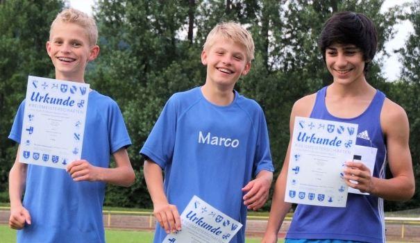 Drittschnellste Zeit in Baden:  Die 3x800 Meter Staffel der  U14 des SR Yburg