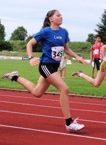Zum dritten Mal mit  neuer Bestzeit: Lara  Schönith