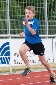 Tolle Vorstellung bei seinem ersten 800 Meter Rennen: Niklas Huber