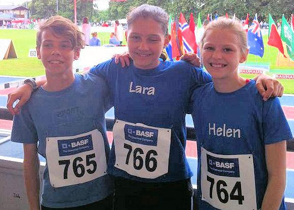 Starke Ergebnisse vor großer Kulisse: Niklas,Lara,Helen