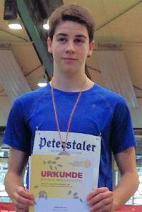 Joshua Braun, Bronzemedaille über 60 Meter Hüden