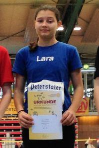 Lara Schönith, Vierte über 60 Meter Hürden