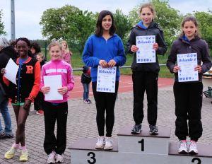 Siegerherung W12: (von links) Jenny Dike, Celine Scheifele, Dana Kara (Gaggenau) Rachel Fruchtmann, Maria Linder (Gaggenau)