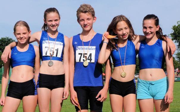 Das erfolgreiche SR Yburg Team bei den Badischen Meisterschaften: Annika Bode,Helen Fischer, Niklas Huber, Rachel Fruchtmann und Chiara Roth