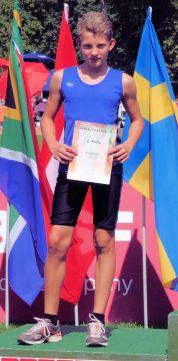 Neue Bestzeit und zweiter Platz über 75 Meter: Niklas Huber