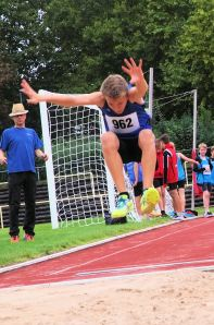 Erfolgreichster Athlet der Kreismeisterschaft mit fünf Titeln: Niklas Huber