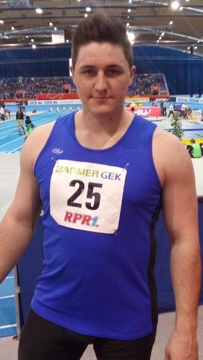 Starke Leistung, super Platzierung bei den deutschen Hallenmeisterschaften