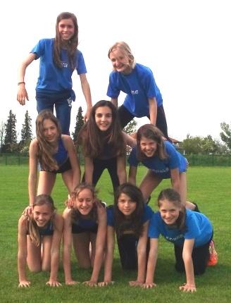 In jeder Hinsicht ein starkes Team: Mädchen- Mannschaft U14