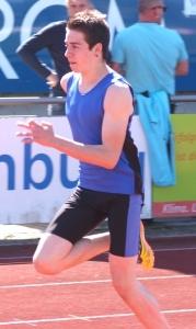 Joshua Braun mit starker 200 Meter zeit zweiter beim Sprintmeeting der MTG Mannheim