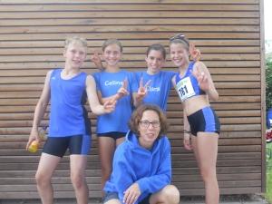 (von links) Jona Fruchtmann, Celine Scheiffele, Clara Kopitzke, Franzi Seebacher und Trainerin Martha Fruchtmann.