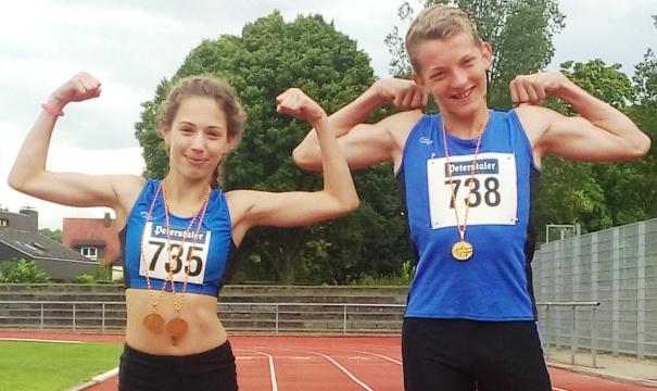 Badische Meister im Vierkampf: Rachel Fruchtmann und Niklas Huber