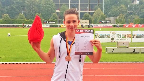 Nico Maier gewinnt Bronze im Kugelstoßen bei den Deutschen U16 Meisterschaften
