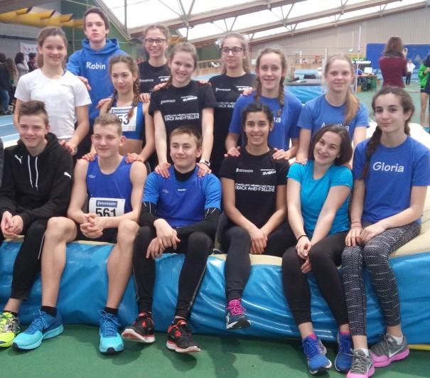 Das erfolgreiche U16 Team bei den Badischen U16 Hallenmeisterschaften