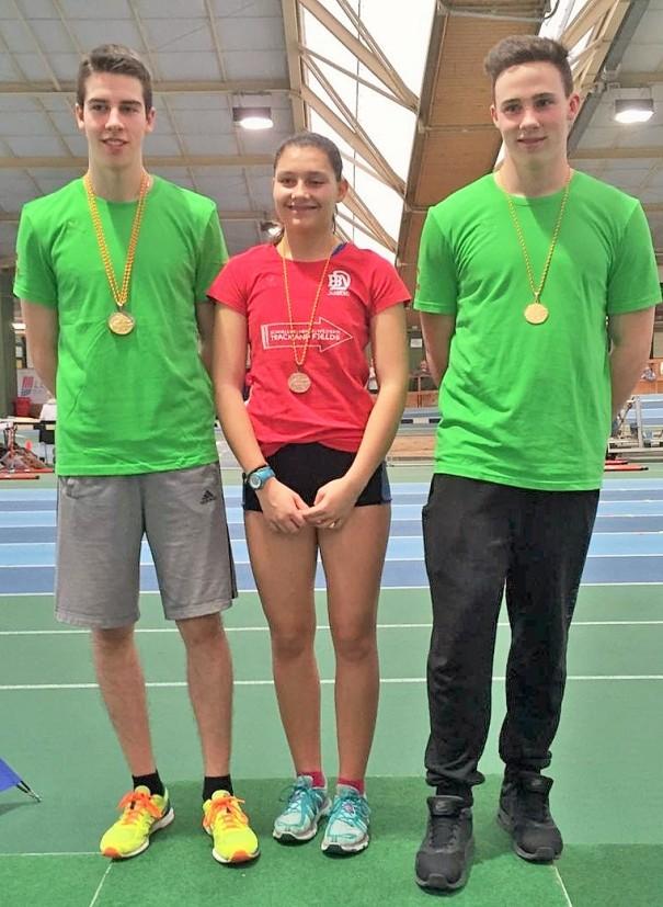 Drei Teilnehmer, fünf Medaillen: Joshua Braun, Lara Schönith, Nico Maier