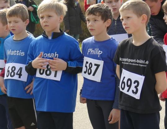 Mannschaftssieger U10: (von links) Mattis Linder, Jonah Schröder, Philip Ganter und Daniel Uecker.