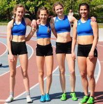 Schnelle U16 Staffel: Hanna Altmann, Rachel Fruchtmann,Helen Fischer, Dana Lang