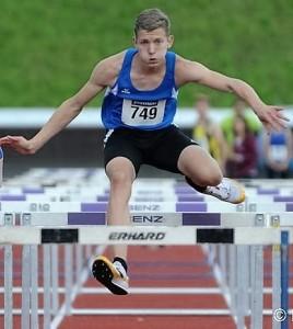 Kreisrekord über 80 Meter Hürden: Niklas Huber