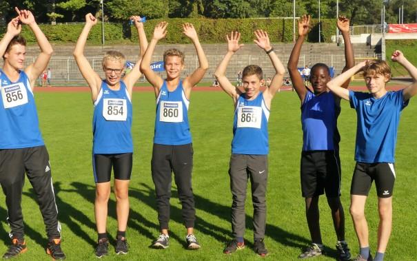 Dritte Badische Mannschaftsmeister: Jungs U14. (Von links): Fabian Haedecke, Jona Fruchtmann, Tim Kilka, Moritz Merkel, Remy Dike, Tobias Pfeil.