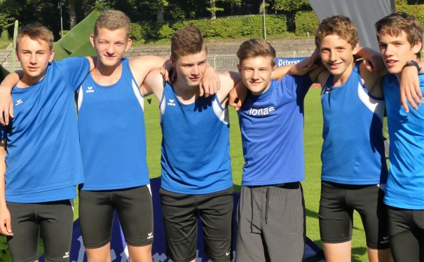 Badische Vizemeister: Jungs U16: (von links): Leon Hofmann, Niklas Huber, Lukas Girarde, Jonas Keller, Lars Lawo und Robin Frey.